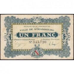 Strasbourg - Pirot 133-4 - 1 franc - 11/11/1918 - Etat : TB