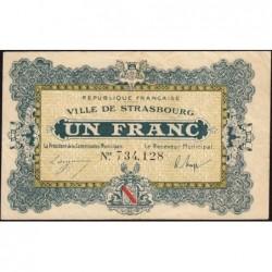 Strasbourg - Pirot 133-4 - 1 franc - 11/11/1918 - Etat : TB+