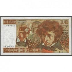 F 63-01 - 23/11/1972 - 10 francs - Berlioz - Série F.1 - Etat : TB+