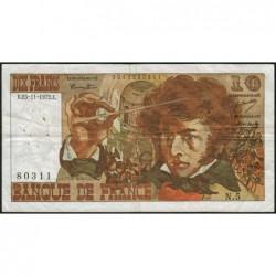 F 63-01 - 23/11/1972 - 10 francs - Berlioz - Série N.5 - Etat : TB