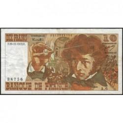 F 63-01 - 23/11/1972 - 10 francs - Berlioz - Série A.6 - Etat : TB+