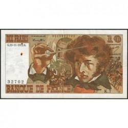 F 63-01 - 23/11/1972 - 10 francs - Berlioz - Série K.7 - Etat : TTB
