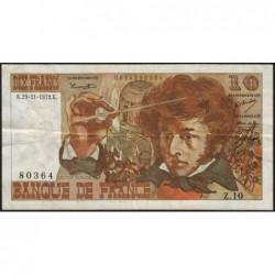 F 63-01 - 23/11/1972 - 10 francs - Berlioz - Série Z.10 - Etat : TB+