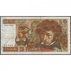 F 63-02 - 06/12/1973 - 10 francs - Berlioz - Série A.12 - Etat : B+