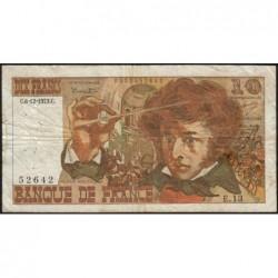 F 63-02 - 06/12/1973 - 10 francs - Berlioz - Série E.13 - Etat : TB-