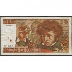F 63-02 - 06/12/1973 - 10 francs - Berlioz - Série K.13 - Etat : TB-