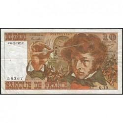 F 63-02 - 06/12/1973 - 10 francs - Berlioz - Série Q.13 - Etat : TB
