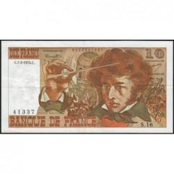 F 63-03 - 07/02/1974 - 10 francs - Berlioz - Série S.16 - Etat : TTB