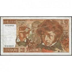 F 63-03 - 07/02/1974 - 10 francs - Berlioz - Série M.17 - Etat : TB