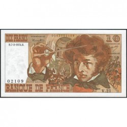 F 63-03 - 07/02/1974 - 10 francs - Berlioz - Série V.21 - Etat : NEUF