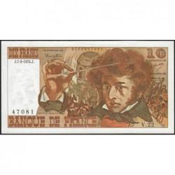 F 63-03 - 07/02/1974 - 10 francs - Berlioz - Série V.22 - Etat : TTB+