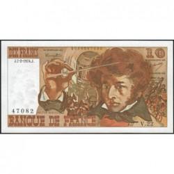F 63-03 - 07/02/1974 - 10 francs - Berlioz - Série V.22 - Etat : SPL