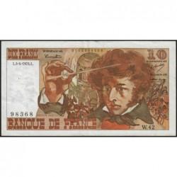 F 63-04 - 04/04/1974 - 10 francs - Berlioz - Série W.42 - Remplacement - Etat : TTB