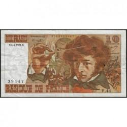 F 63-04 - 04/04/1974 - 10 francs - Berlioz - Série V.44 - Etat : TB