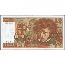 F 63-04 - 04/04/1974 - 10 francs - Berlioz - Série L.45 - Etat : TTB+