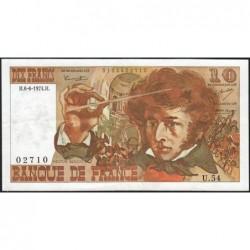 F 63-05 - 06/06/1974 - 10 francs - Berlioz - Série U.54 - Etat : TTB
