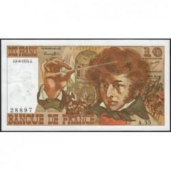F 63-05 - 06/06/1974 - 10 francs - Berlioz - Série A.55 - Etat : TTB+