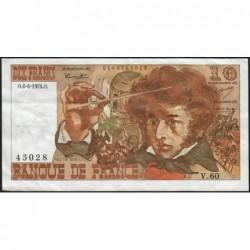 F 63-05 - 06/06/1974 - 10 francs - Berlioz - Série V.60 - Etat : TB+