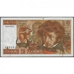 F 63-05 - 06/06/1974 - 10 francs - Berlioz - Série V.62 - Etat : TB
