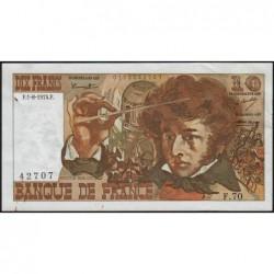 F 63-06 - 01/08/1974 - 10 francs - Berlioz - Série F.70 - Etat : SUP-