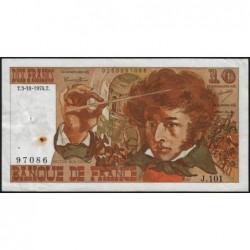 F 63-07a - 03/10/1974 - 10 francs - Berlioz - Série J.101 - Etat : TTB-