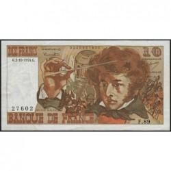F 63-07a - 03/10/1974 - 10 francs - Berlioz - Série F.89 - Etat : TTB-
