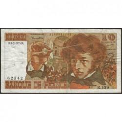 F 63-08 - 06/02/1975 - 10 francs - Berlioz - Série R.139 - Etat : TB-