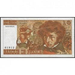 F 63-08 - 06/02/1975 - 10 francs - Berlioz - Série F.140 - Etat : TB