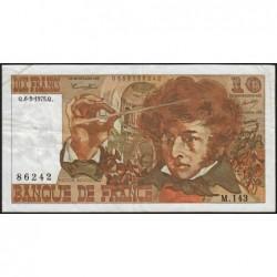 F 63-08 - 06/02/1975 - 10 francs - Berlioz - Série M.143 - Etat : TB