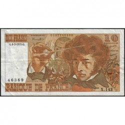 F 63-08 - 06/02/1975 - 10 francs - Berlioz - Série X.143 - Etat : TB
