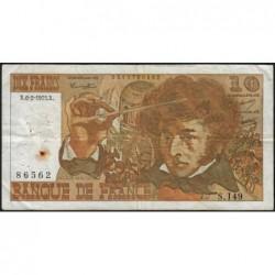 F 63-08 - 06/02/1975 - 10 francs - Berlioz - Série S.149 - Etat : TB-