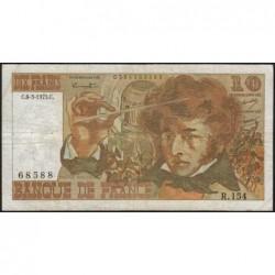 F 63-09 - 06/03/1975 - 10 francs - Berlioz - Série R.154 - Etat : TB-
