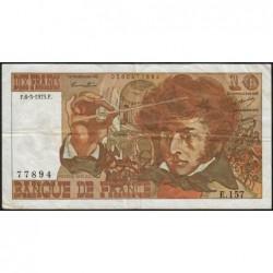 F 63-09 - 06/03/1975 - 10 francs - Berlioz - Série E.157 - Etat : TB+