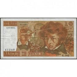 F 63-09 - 06/03/1975 - 10 francs - Berlioz - Série E.162 - Etat : TB+