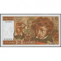 F 63-09 - 06/03/1975 - 10 francs - Berlioz - Série C.165 - Etat : SUP