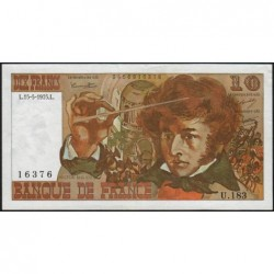F 63-10 - 15/05/1975 - 10 francs - Berlioz - Série U.183 - Etat : TTB+