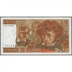 F 63-10 - 15/05/1975 - 10 francs - Berlioz - Série X.184 - Etat : TTB