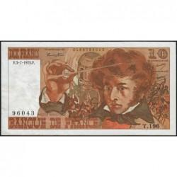 F 63-11 - 03/07/1975 - 10 francs - Berlioz - Série Y.196 - Etat : TTB