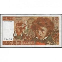 F 63-11 - 03/07/1975 - 10 francs - Berlioz - Série X.208 - Etat : TB+