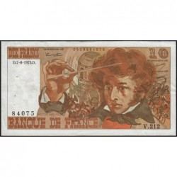 F 63-12 - 07/08/1975 - 10 francs - Berlioz - Série V.212 - Etat : TTB