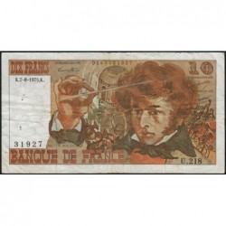 F 63-12 - 07/08/1975 - 10 francs - Berlioz - Série U.218 - Etat : TB