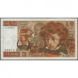 F 63-12 - 07/08/1975 - 10 francs - Berlioz - Série H.223 - Etat : TTB
