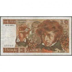 F 63-14 - 06/11/1975 - 10 francs - Berlioz - Série A.253 - Etat : TB