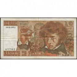 F 63-14 - 06/11/1975 - 10 francs - Berlioz - Série S.253 - Etat : TB