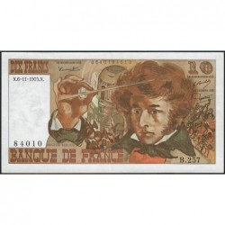F 63-14 - 06/11/1975 - 10 francs - Berlioz - Série B.257 - Etat : SUP