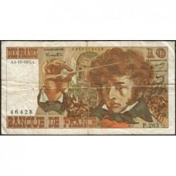 F 63-15 - 04/12/1975 - 10 francs - Berlioz - Série P.263 - Etat : TB