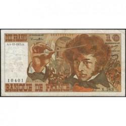 F 63-15 - 04/12/1975 - 10 francs - Berlioz - Série X.263 - Etat : TB