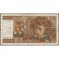F 63-16 - 02/01/1976 - 10 francs - Berlioz - Série J.267 - Etat : TB-