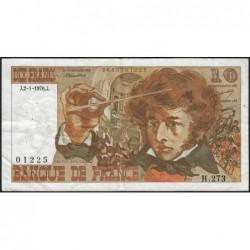 F 63-16 - 02/01/1976 - 10 francs - Berlioz - Série H.273 - Etat : TB+