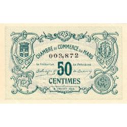 Le Mans - Pirot 69-1a - 50 centimes - 08/07/1915 - Etat : SPL+